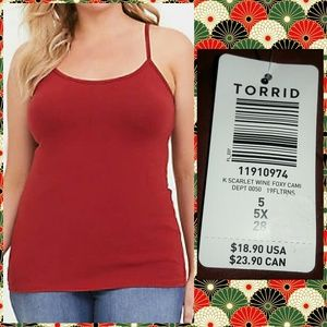 Torrid Scarlet Wine Red Foxy Cami Sz 5X(28)
